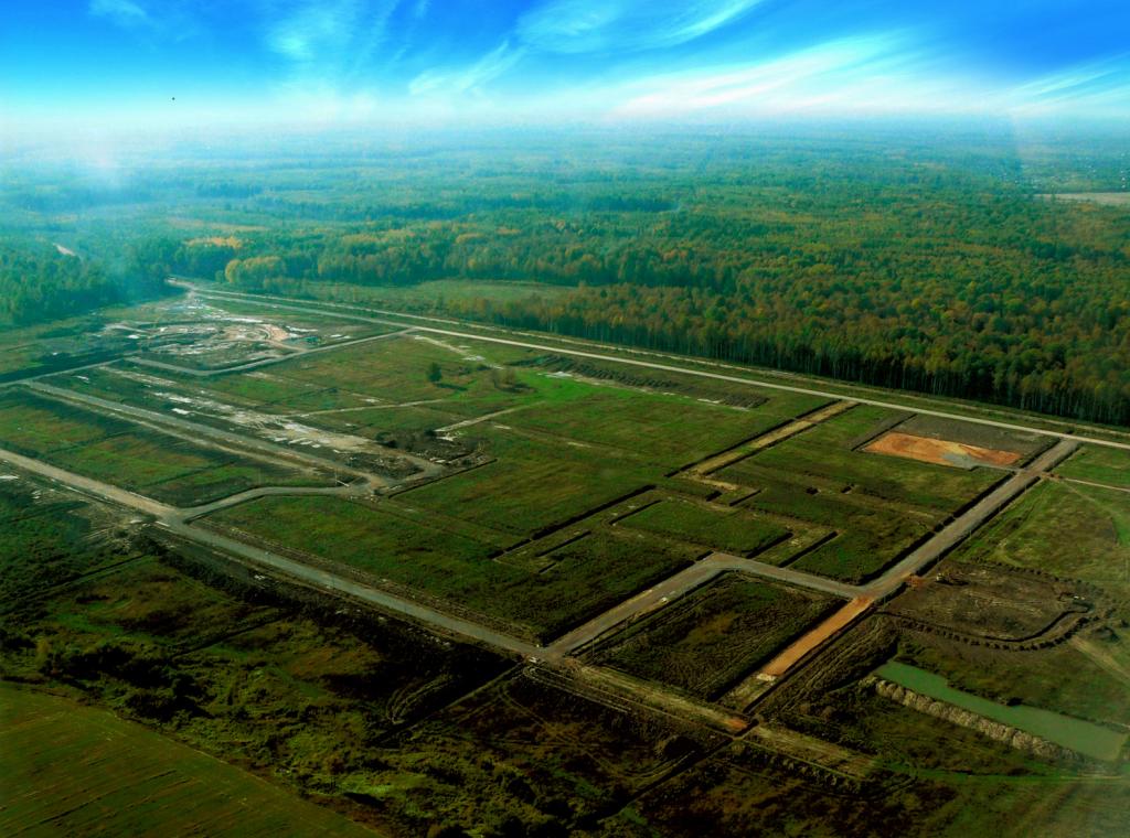 Аэросъёмка территории завода