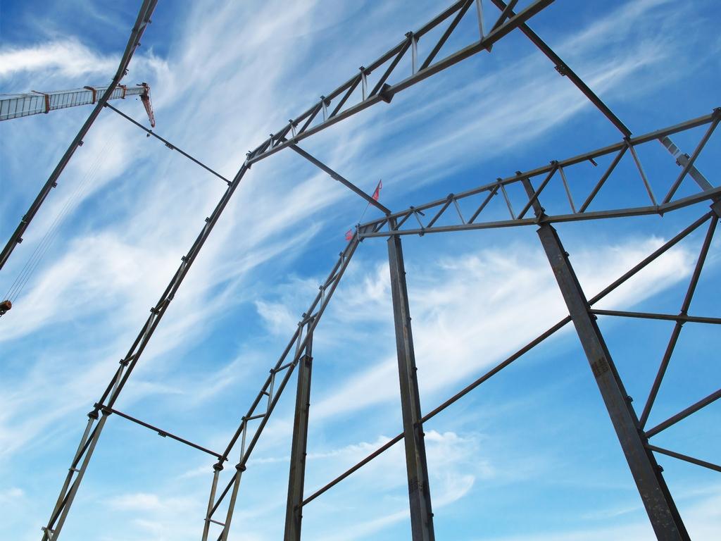 Монтаж металлических конструкций склада добавок