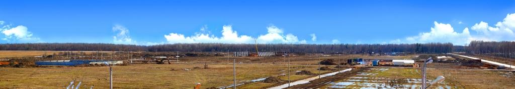 Панорамный вид на стройплощадку