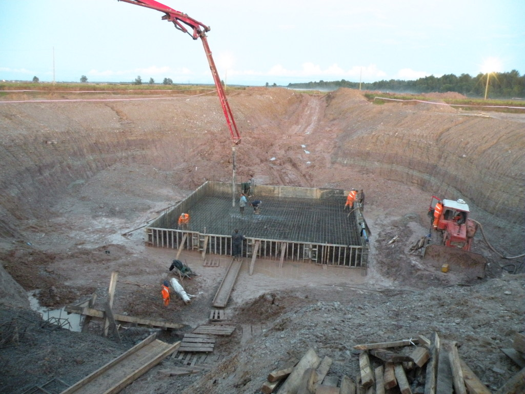Приемка первого бетона, объект -шатровый склад